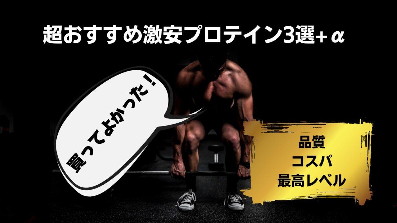 【プロテイン】買ってよかった!!コスパ・品質最高レベルの激安プロテイン3選+α